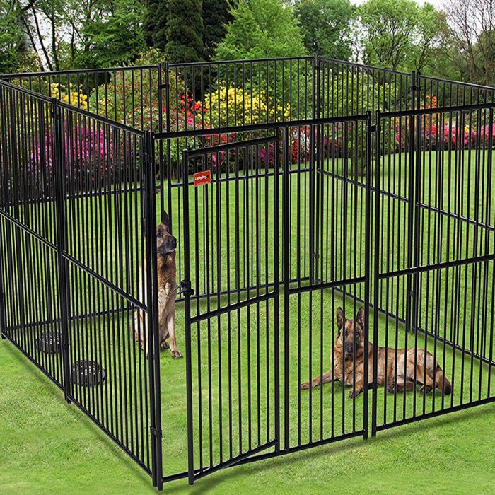 Lucky Dog European Style 2-Run Kennel w/ Common Wall