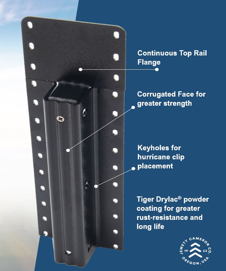 Lifetime Steel Post™ - 6' Black Post with Double Powdercoat Finish