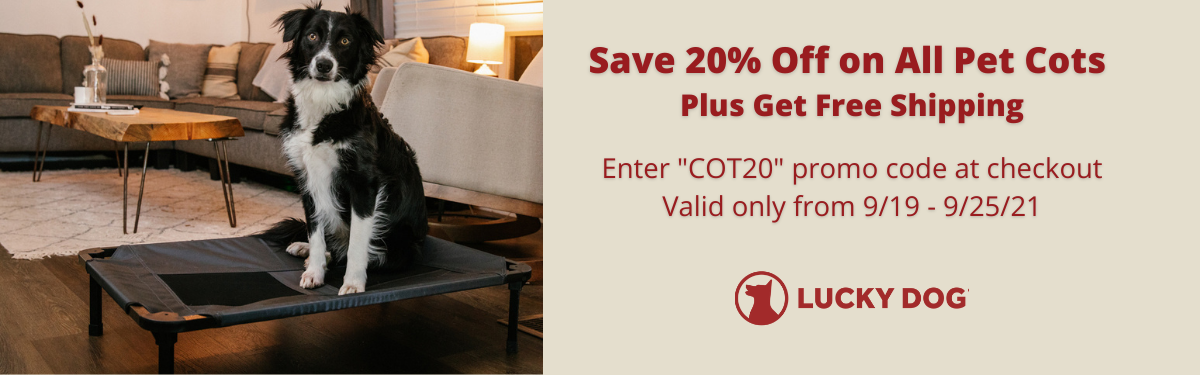 Save 20% off All Pet Cots