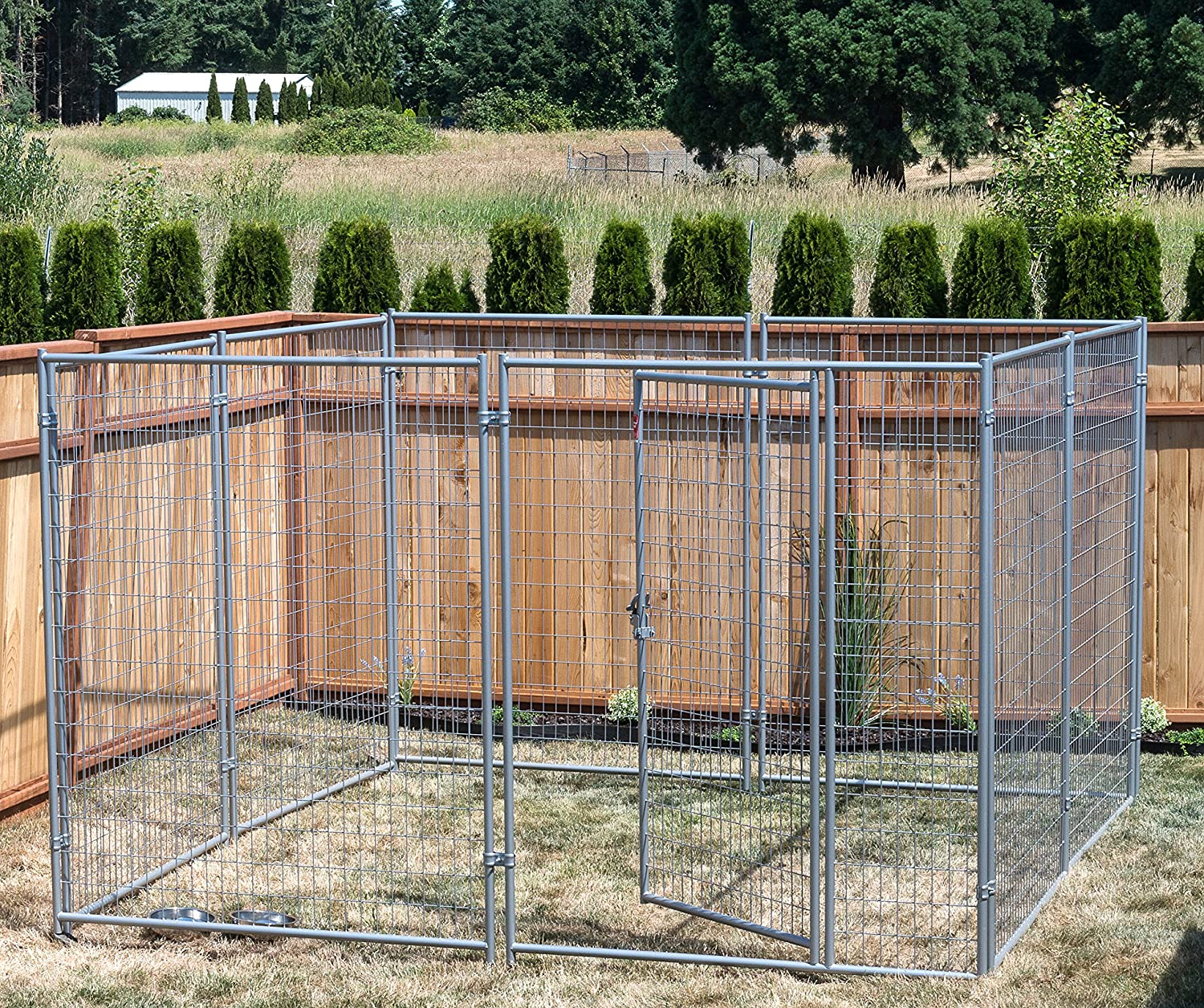 Lucky Dog® 10' x 10' Silver Wire Kennel